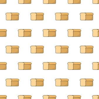 Padrão sem emenda do pão fresco. ilustração de tema de comida de pão
