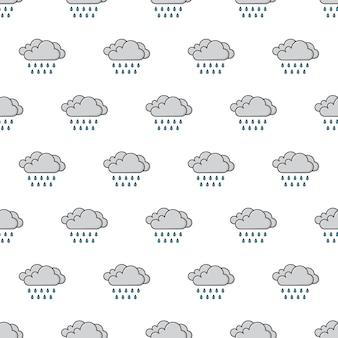 Padrão sem emenda do tempo de nuvens de chuva. ilustração do tema dos fenômenos meteorológicos