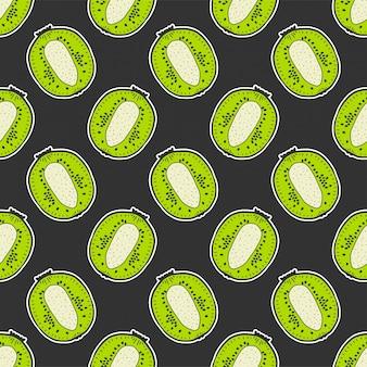 Padrão sem emenda doce kiwi maduro