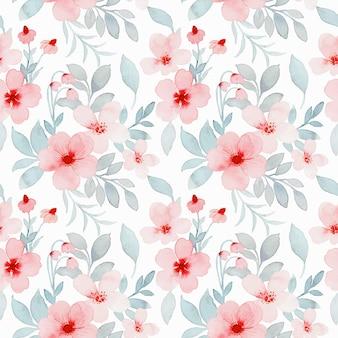 Padrão sem emenda em aquarela de flor rosa pastel