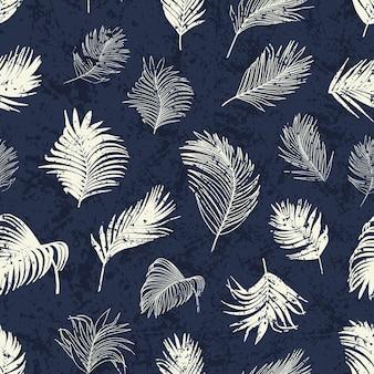 Padrão sem emenda em folha de palmeira