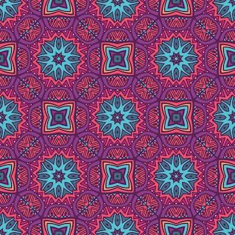 Padrão sem emenda em mosaico abstrato impressão geométrica étnica