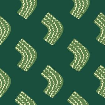 Padrão sem emenda em tons de verde. elementos verdes claros.