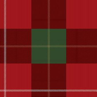 Padrão sem emenda escocês xadrez vermelho e verde