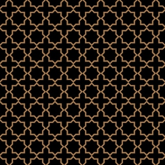 Padrão sem emenda escuro em estilo árabe com estrelas