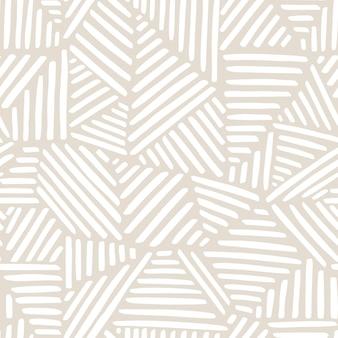 Padrão sem emenda estético contemporâneo para impressão com formas abstratas e linha em cores nude