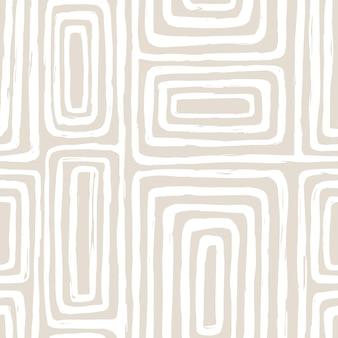 Padrão sem emenda estético contemporâneo para impressão com linha elegante minimalista abstrata em cores nude