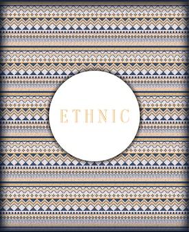 Padrão sem emenda étnico abstrato