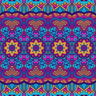 Padrão sem emenda étnico. fundo tribal. estilo asteca e indiano, estampa vintage.