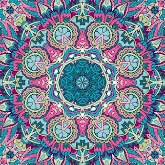 Padrão sem emenda étnico geométrico abstrato com azulejos boho ornamental