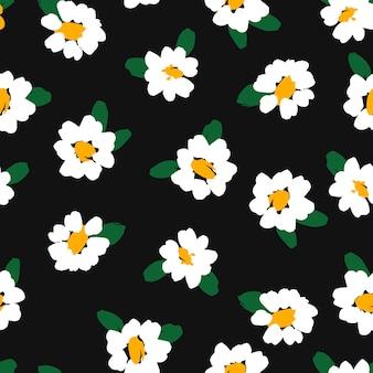Padrão sem emenda floral abstrato com camomila. texturas desenhadas à mão na moda. design abstrato moderno para, papel, capa, tecido e outros usuários