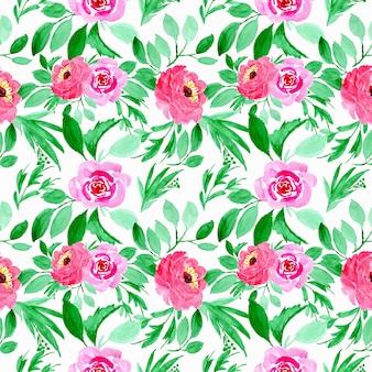 Padrão sem emenda floral aquarela verde