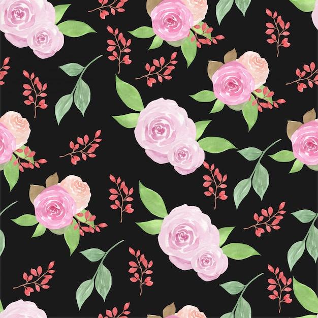 Padrão sem emenda floral com rosas