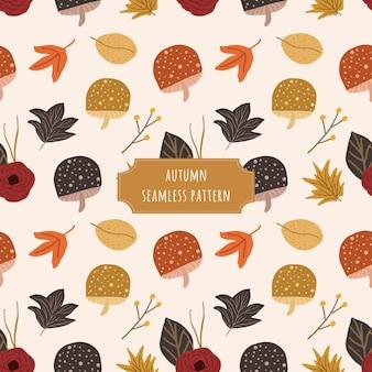 Padrão sem emenda floral de outono