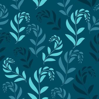Padrão sem emenda floral. design padrão sem emenda de folhagem com cor pastel. padrão de folhas tropicais