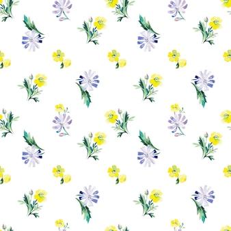 Padrão sem emenda floral em aquarela. ilustração vetorial
