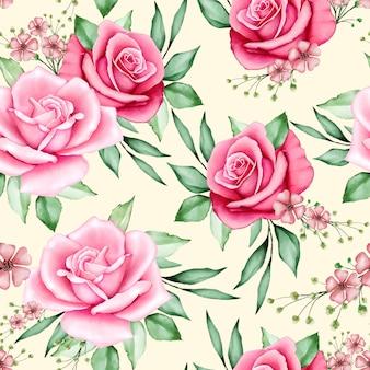 Padrão sem emenda floral em aquarela