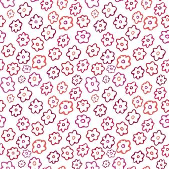 Padrão sem emenda floral. flor simples design têxtil.