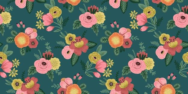 Padrão sem emenda floral popular. design abstrato moderno para papel, capa, tecido, ritmo e outros usuários