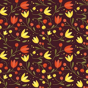 Padrão sem emenda fofo com flores pequenas coloridas