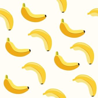 Padrão sem emenda fofo de banana