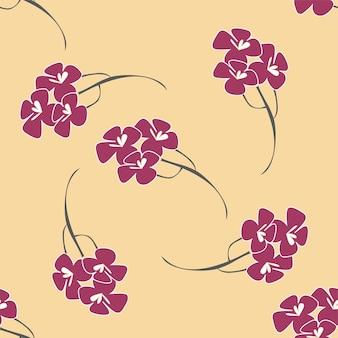 Padrão sem emenda, fundo com flores como sakura japonesa em cores suaves. ilustração em vetor de estoque - fundo infinito