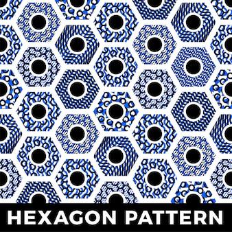 Padrão sem emenda geométrica hexágono mel abstrato