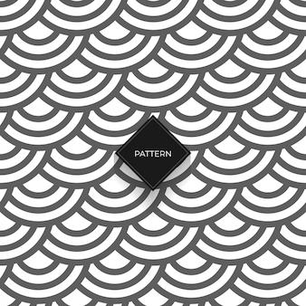 Padrão sem emenda geométrico abstrato com círculos