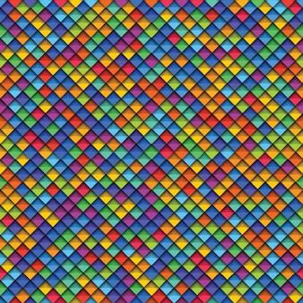Padrão sem emenda geométrico colorido com papel cortado elementos realistas