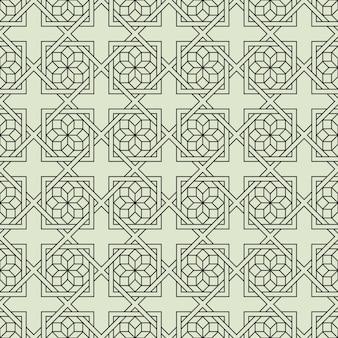 Padrão sem emenda geométrico com flor estilizada em estilo árabe