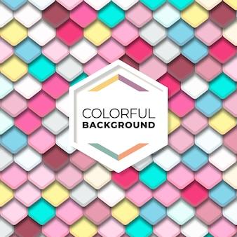 Padrão sem emenda geométrico de hexágono abstrato colorido