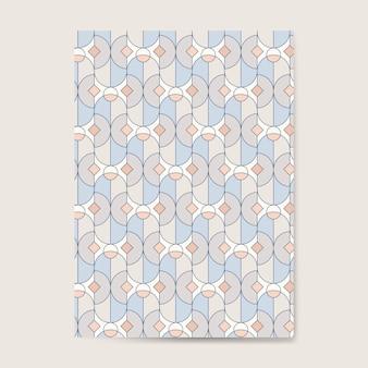 Padrão sem emenda geométrico pastel colorido em um cartão azul