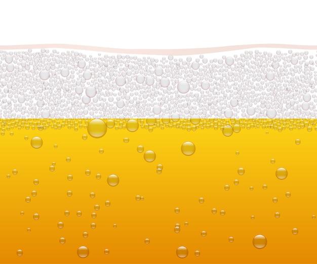 Padrão sem emenda horizontal de cerveja, fundo de outubro.