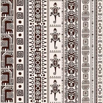 Padrão sem emenda indiano mexicano. textura folclórica de vetor nativo americano