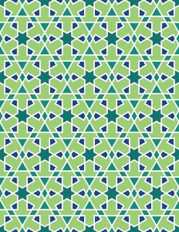 Padrão sem emenda islâmica de linha étnica