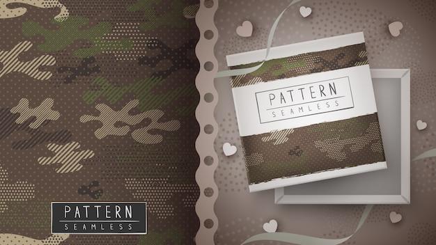 Padrão sem emenda militar de camuflagem - idéia para impressão.