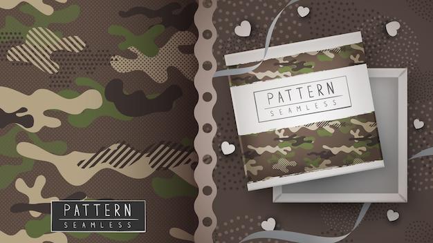 Padrão sem emenda militar de camuflagem - impressão