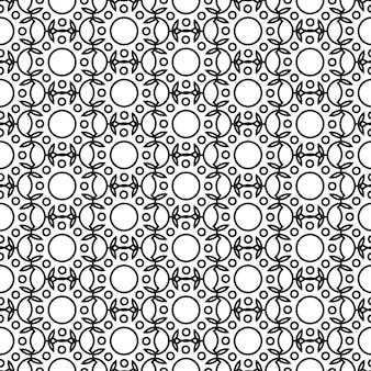 Padrão sem emenda minimalista abstrato com estrutura geométrica repetitiva em ilustração de estilo monocromático