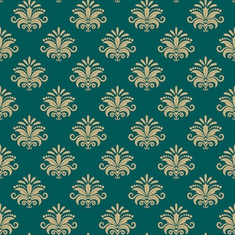Padrão sem emenda oriental do sultão, fundo floral oriental do vetor