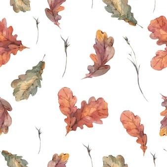 Padrão sem emenda outono botânica