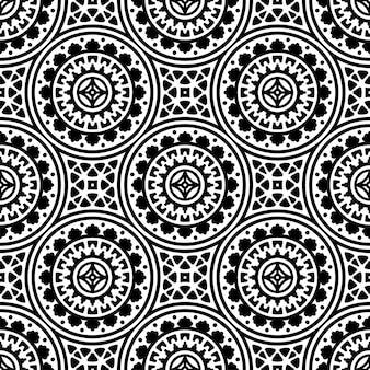 Padrão sem emenda. padrão de elementos decorativos vintage