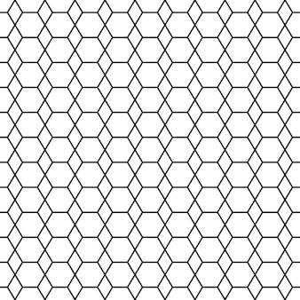 Padrão sem emenda preto e branco com hexágono