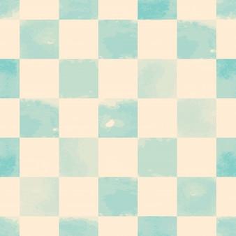 Padrão sem emenda quadrado azul aquarela