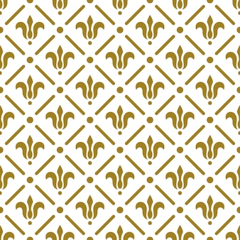 Padrão sem emenda real de luxo. flores douradas sobre fundo branco. ilustração elegante para impressão, design de embalagem