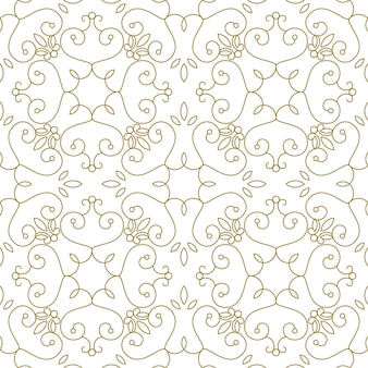 Padrão sem emenda real de luxo. linhas geométricas douradas em branco. ilustração elegante para impressão, design de embalagem, embalagem, têxteis