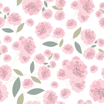 Padrão sem emenda rosa rosa