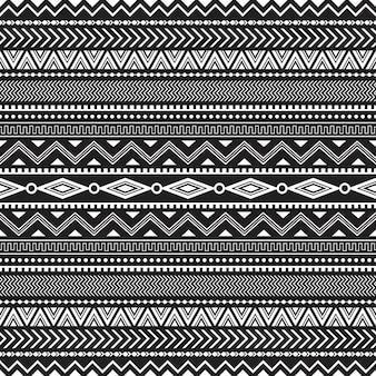 Padrão sem emenda tribal geométrico sem costura