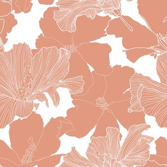 Padrão sem emenda tropical de vetor plantas exóticas abstratas