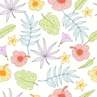 Padrão sem emenda tropical para papel de parede
