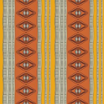 Padrão sem emenda vintage tribal colorido